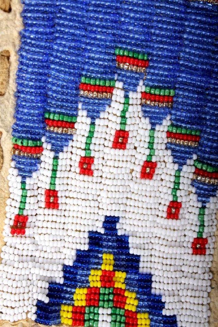 Native American Buckskin Beaded Vest, 20th Century - 10