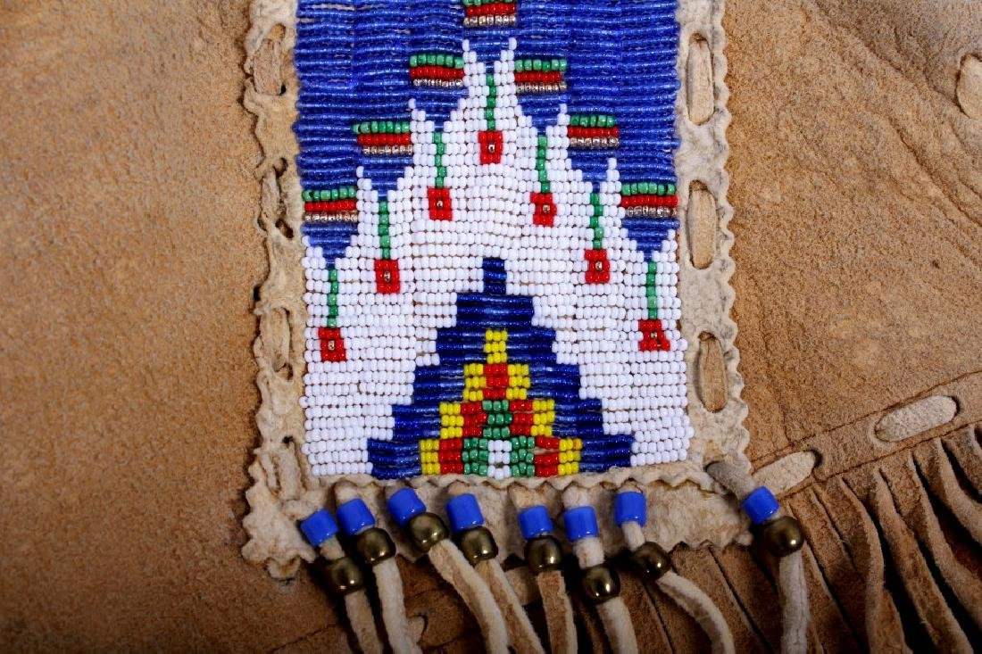 Native American Buckskin Beaded Vest, 20th Century - 14