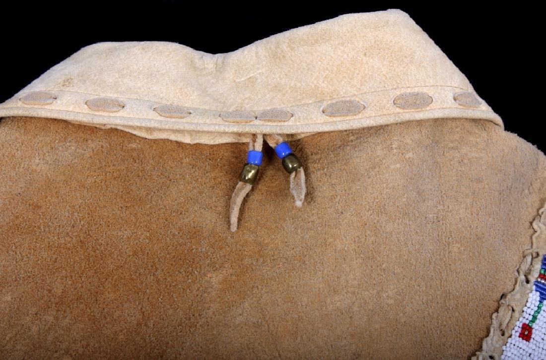 Native American Buckskin Beaded Vest, 20th Century - 15