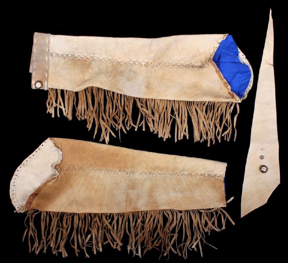Native American Buckskin Beaded Vest, 20th Century - 20