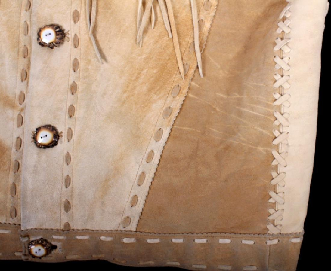Native American Buckskin Beaded Vest, 20th Century - 4