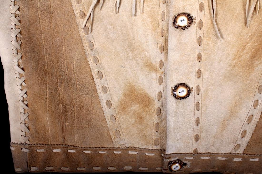 Native American Buckskin Beaded Vest, 20th Century - 5