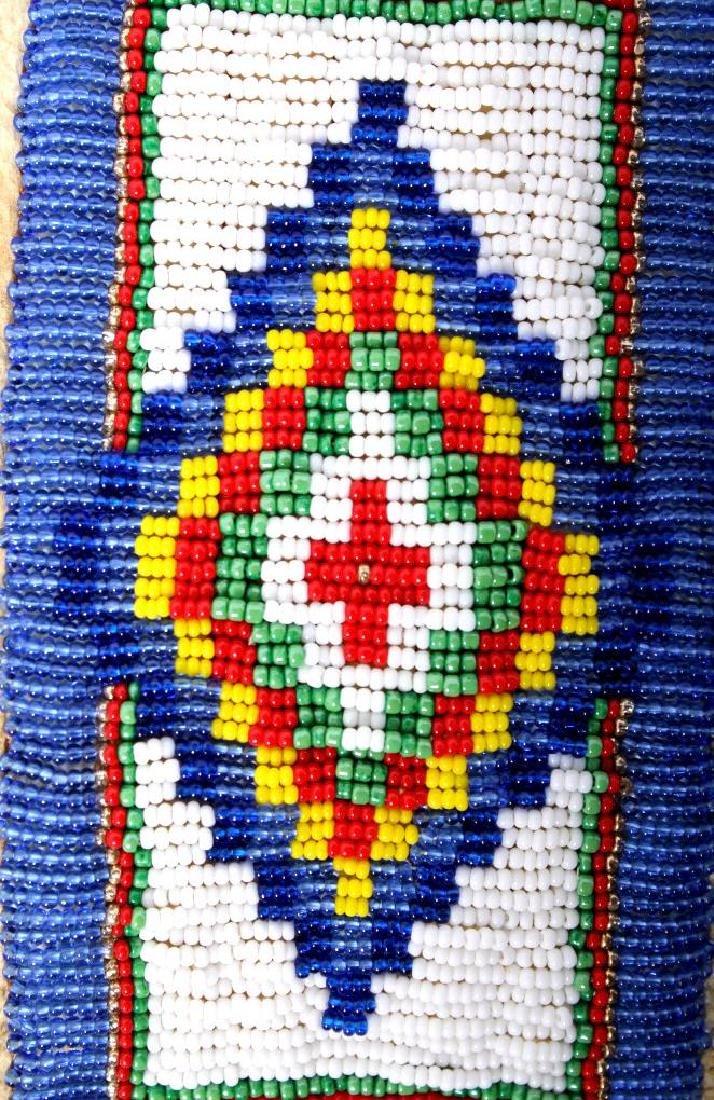 Native American Buckskin Beaded Vest, 20th Century - 9