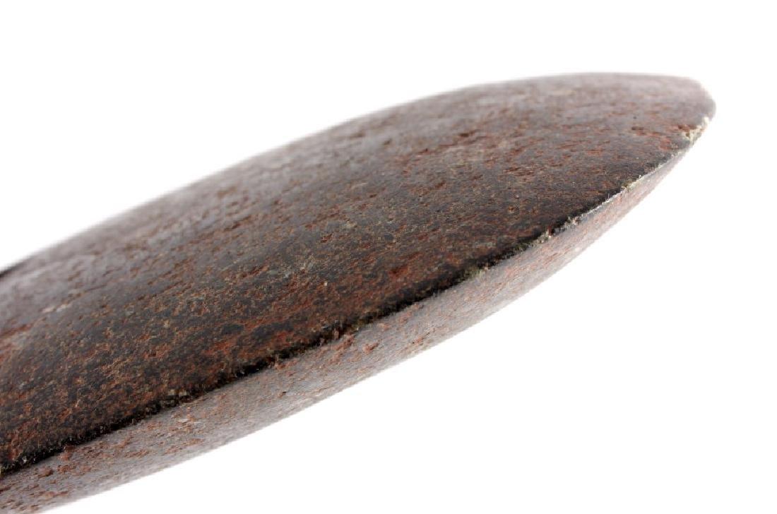 Native American Indian Drilled Greenstone Spud - 7