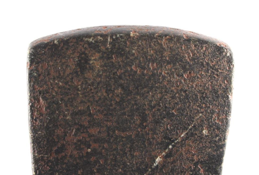 Native American Indian Drilled Greenstone Spud - 9