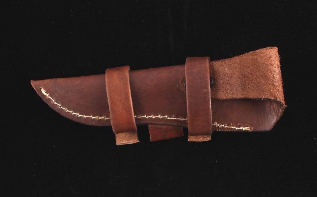 CFK Damascus Exotic Camel Bone Knife & Scabbard - 8