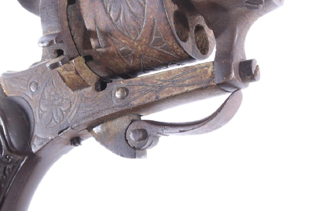 Engraved Belgium Folding 7mm Pinfire Revolver - 16