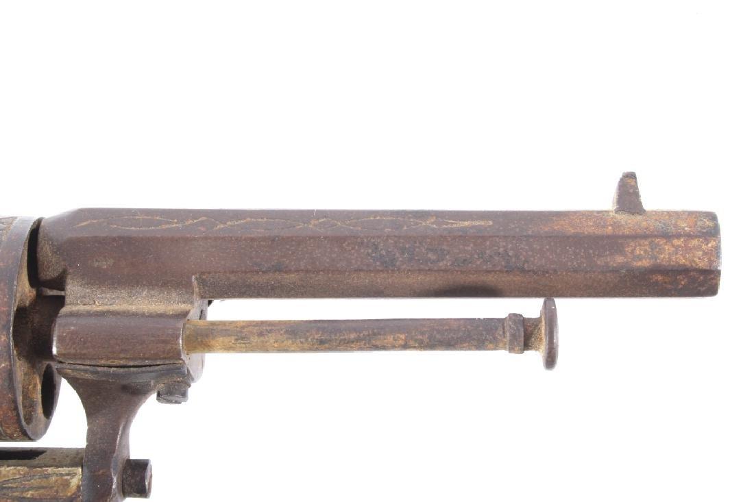 Engraved Belgium Folding 7mm Pinfire Revolver - 4