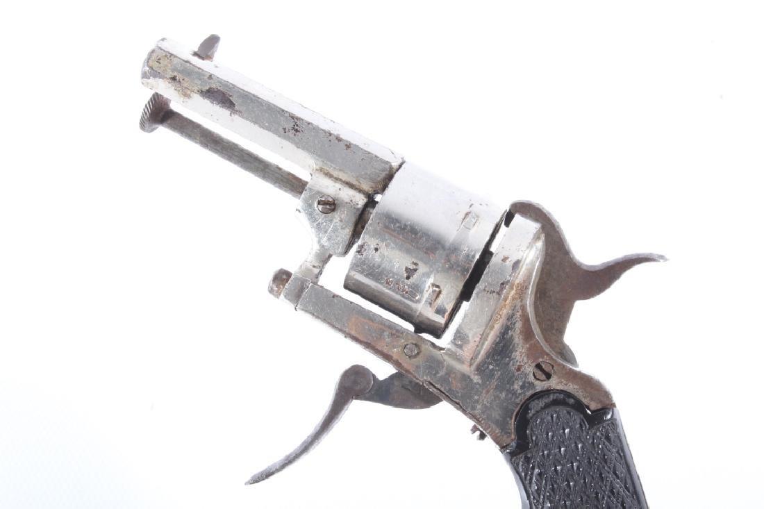 European Folding Trigger .22 Cal Nickel Revolver - 10