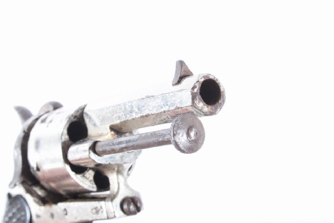 European Folding Trigger .22 Cal Nickel Revolver - 14