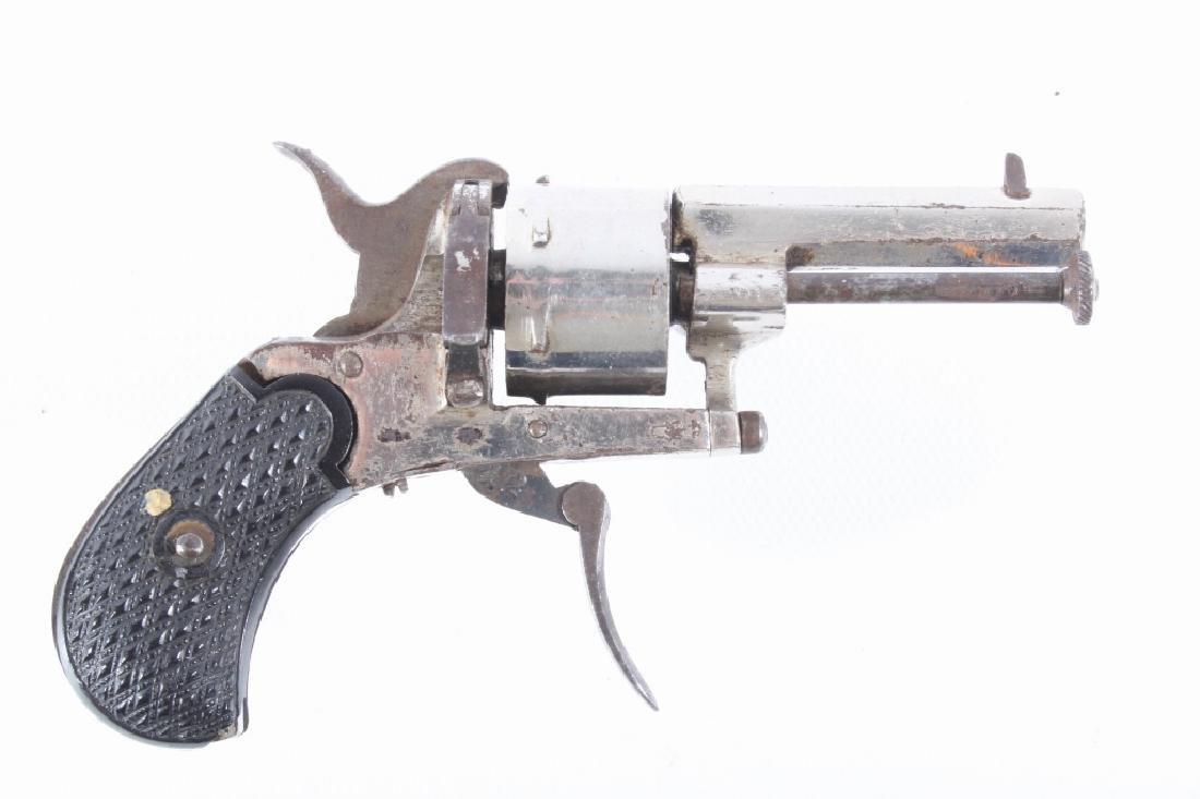 European Folding Trigger .22 Cal Nickel Revolver