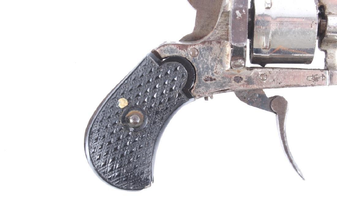 European Folding Trigger .22 Cal Nickel Revolver - 2