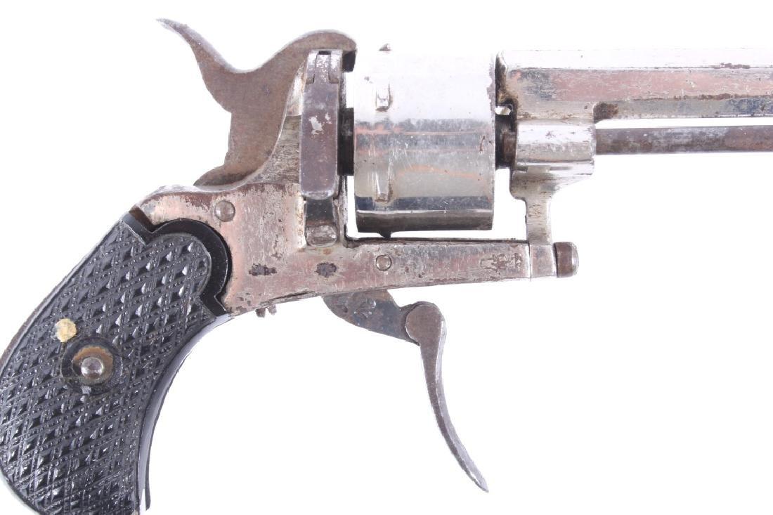 European Folding Trigger .22 Cal Nickel Revolver - 3