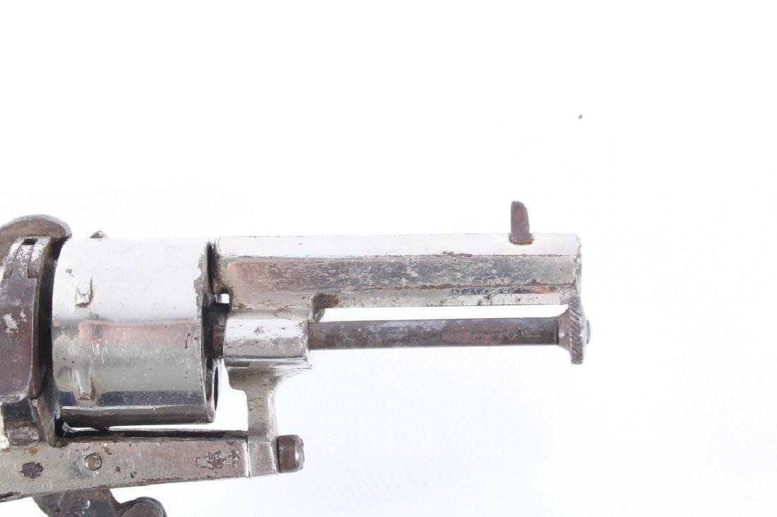 European Folding Trigger .22 Cal Nickel Revolver - 4