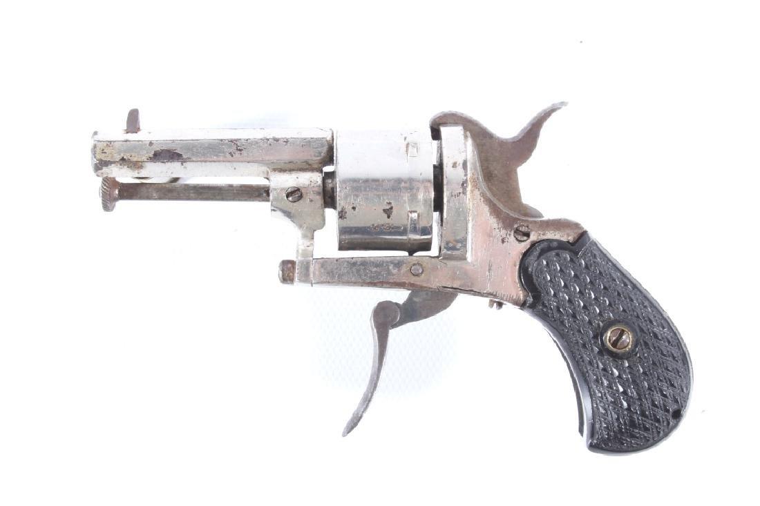 European Folding Trigger .22 Cal Nickel Revolver - 5
