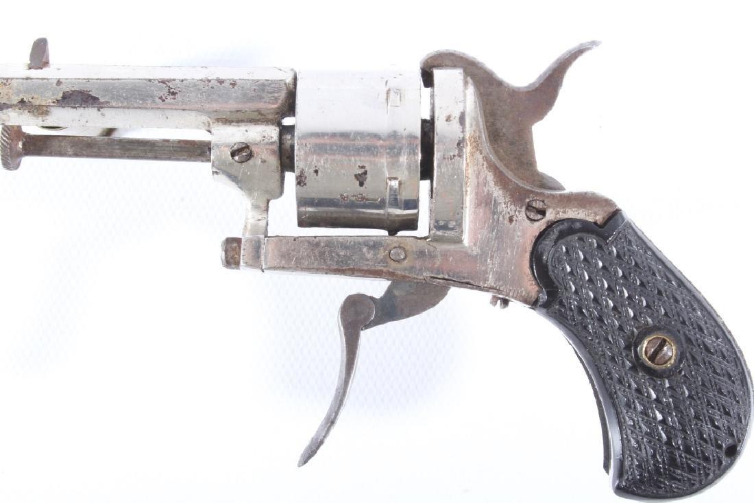 European Folding Trigger .22 Cal Nickel Revolver - 7