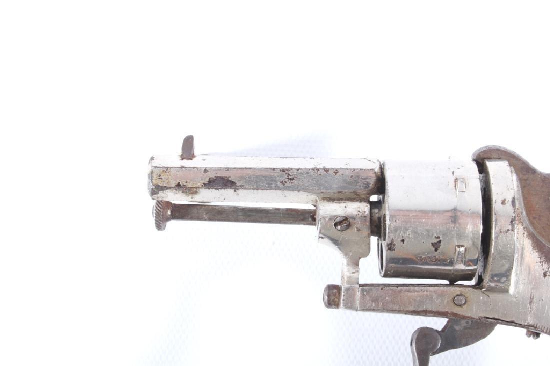 European Folding Trigger .22 Cal Nickel Revolver - 8