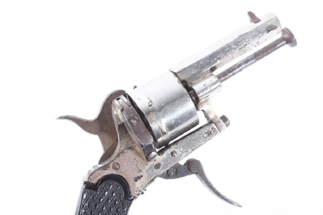 European Folding Trigger .22 Cal Nickel Revolver - 9