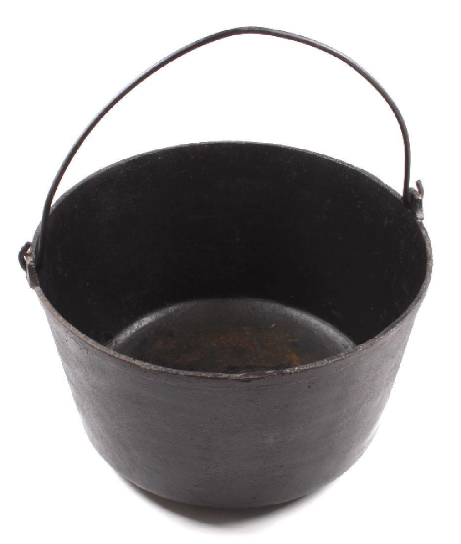 Large Antique Cast Iron Kettle