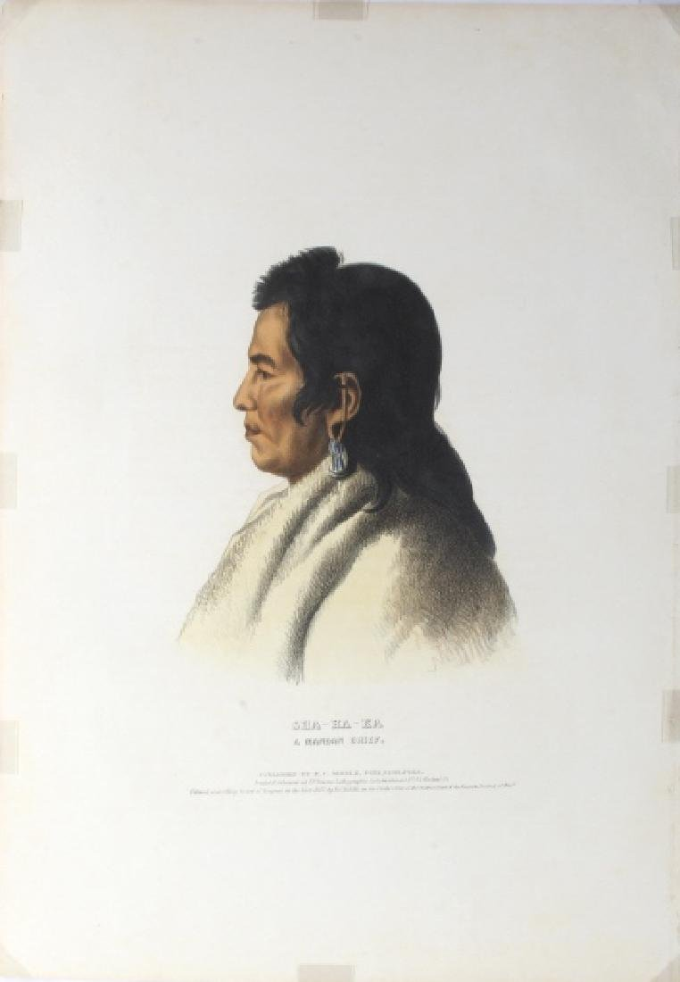 Early Sha-Ha-Ka A Mandan Chief Lithograph 1837