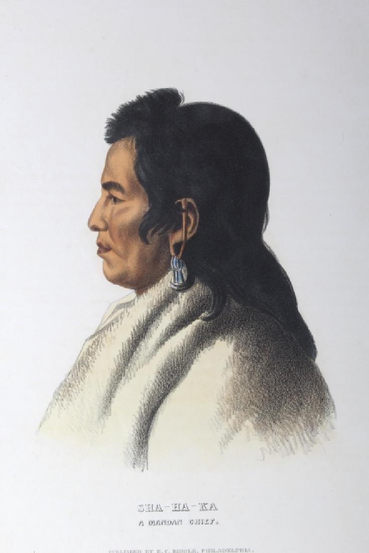 Early Sha-Ha-Ka A Mandan Chief Lithograph 1837 - 2