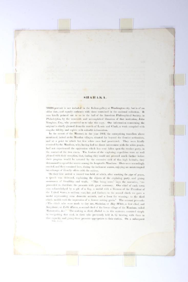 Early Sha-Ha-Ka A Mandan Chief Lithograph 1837 - 4