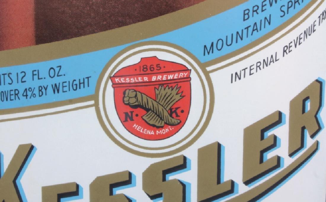 Original Kessler Beer Advertising Sign Montana - 10