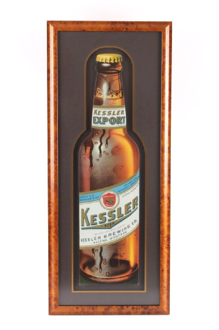 Original Kessler Beer Advertising Sign Montana