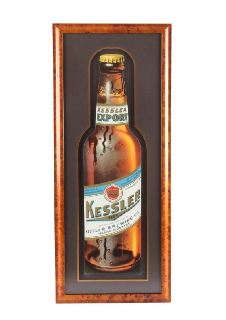 Original Kessler Beer Advertising Sign Montana - 2