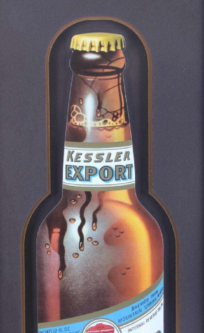 Original Kessler Beer Advertising Sign Montana - 3