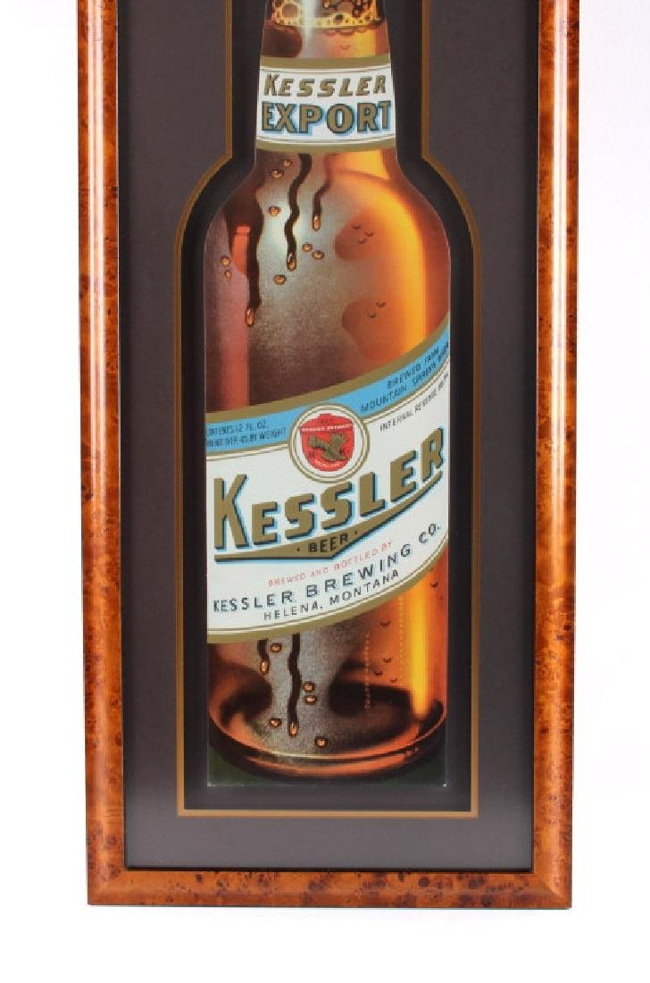 Original Kessler Beer Advertising Sign Montana - 4