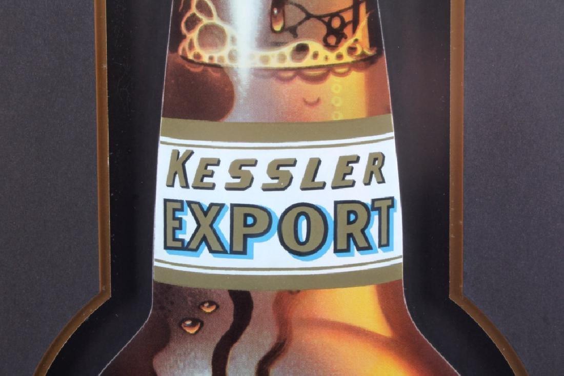 Original Kessler Beer Advertising Sign Montana - 5