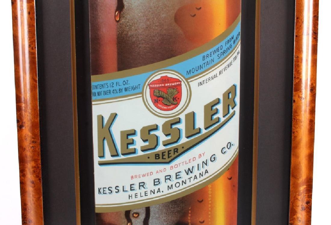 Original Kessler Beer Advertising Sign Montana - 6