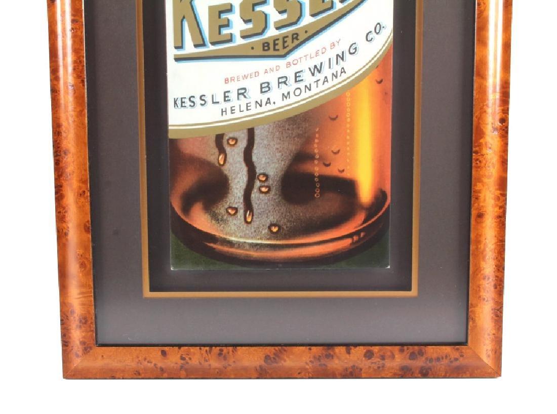 Original Kessler Beer Advertising Sign Montana - 9
