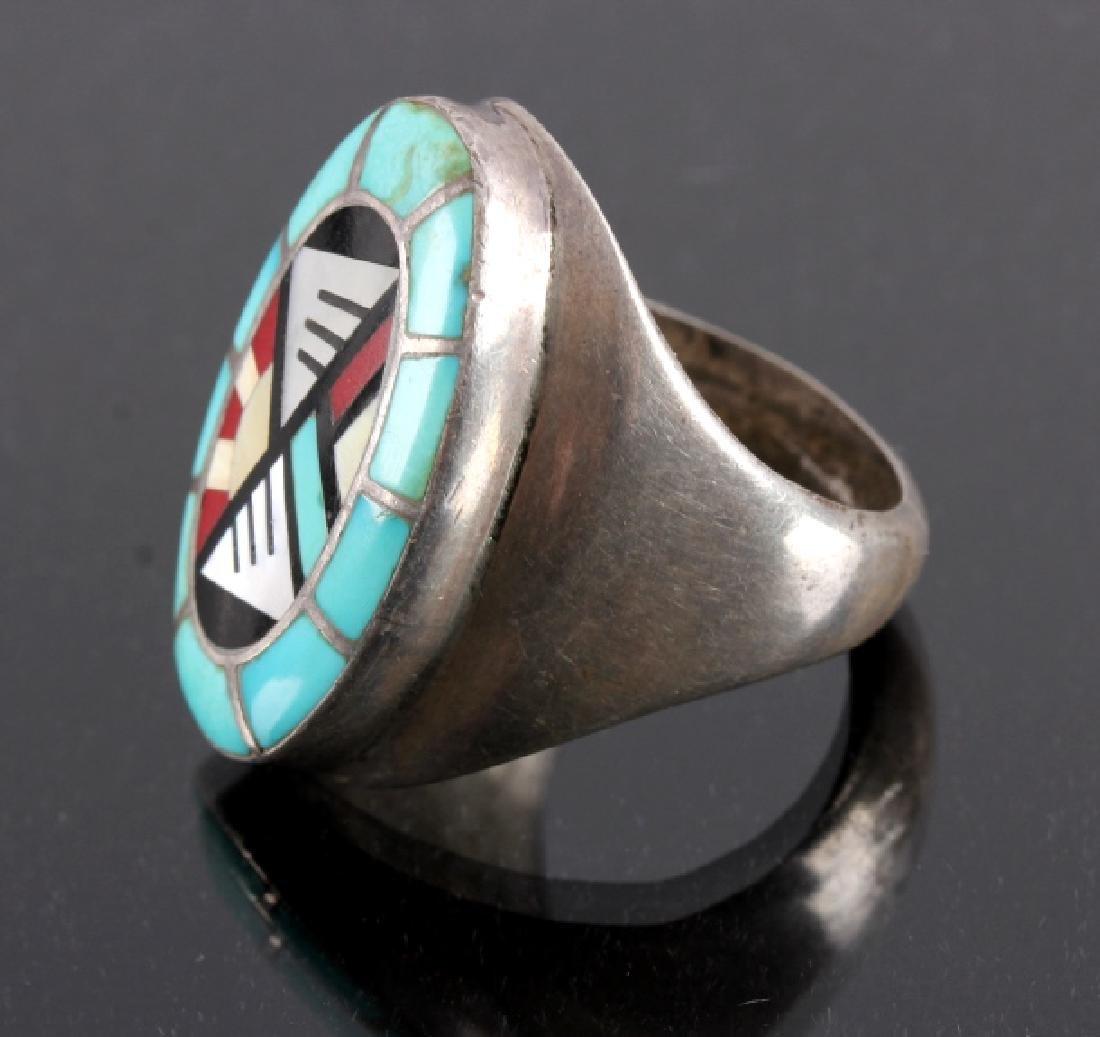 Carolyn Bobelu Zuni Sterling Silver Turquoise Ring - 2
