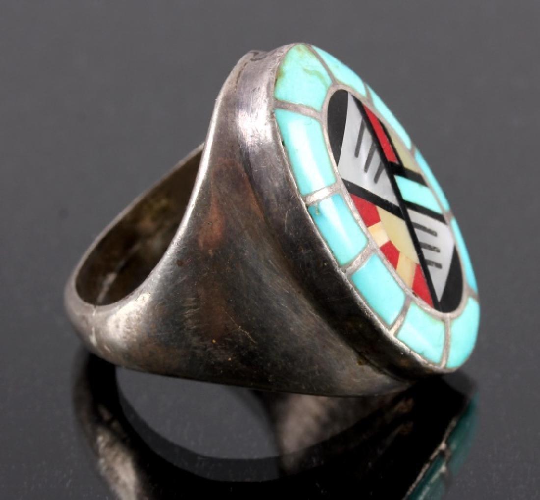 Carolyn Bobelu Zuni Sterling Silver Turquoise Ring - 3
