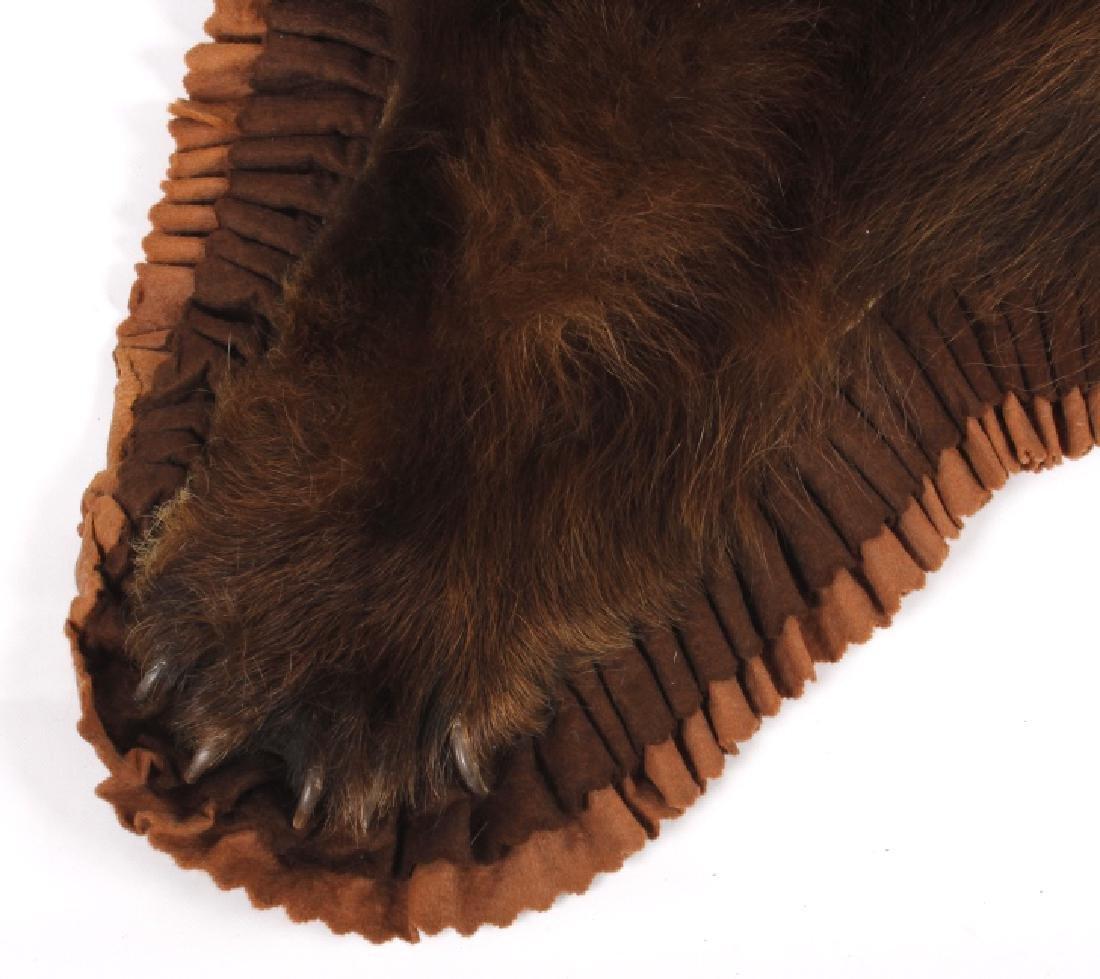 Montana Cinnamon Black Bear Taxidermy Trophy Rug - 4