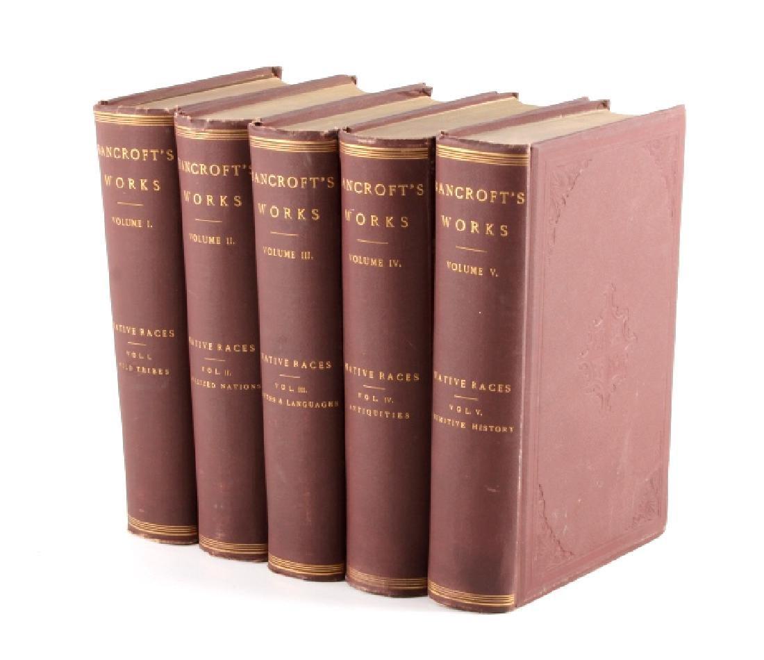 Native Races Bancroft's Works 1882 Complete Set
