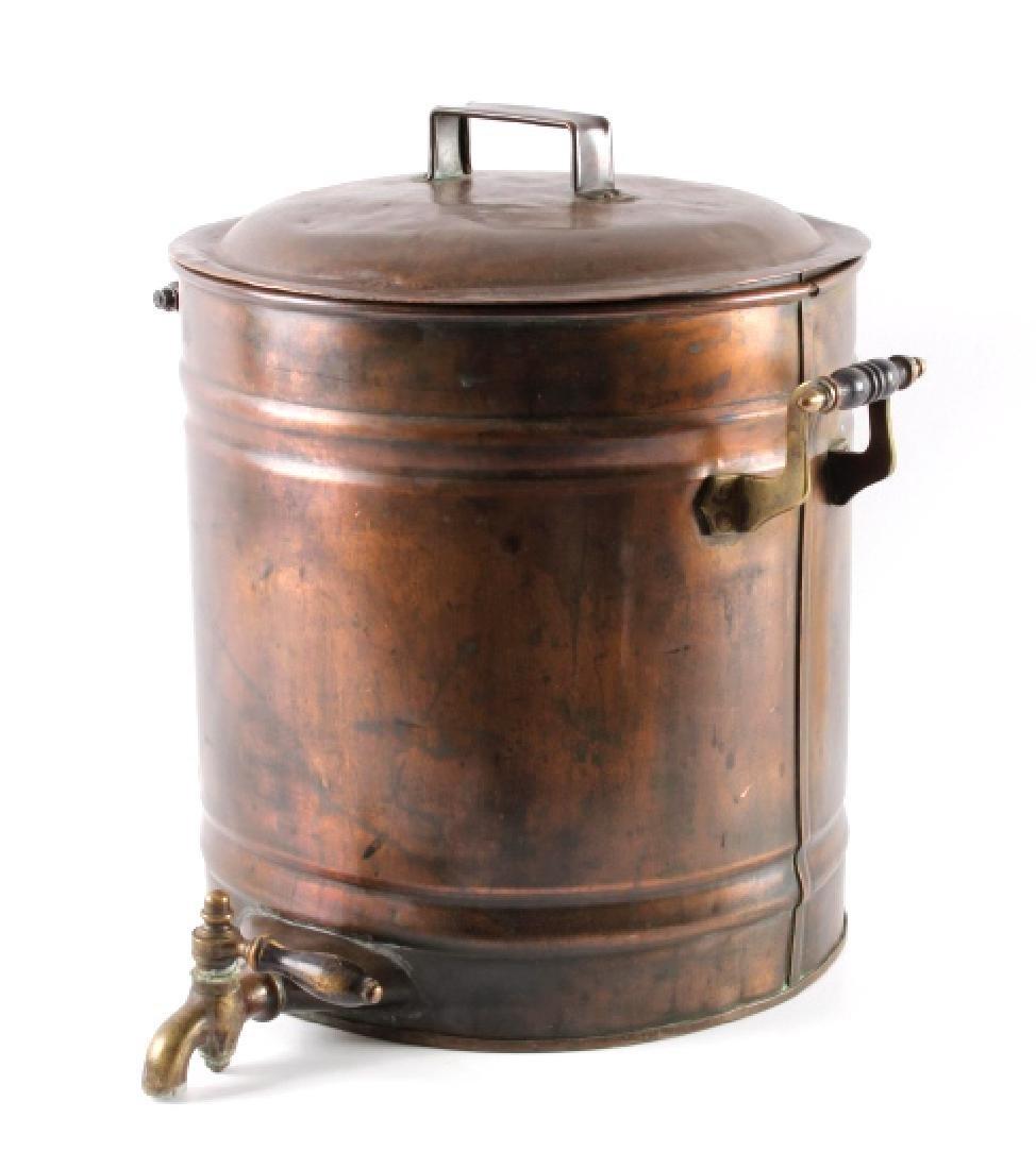 Antique Copper Water Cooler - 7