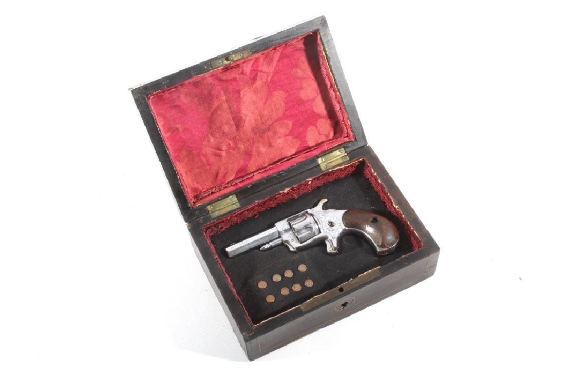 Gambler T&R Rob Roy Engraved Nickel Revolver & Box