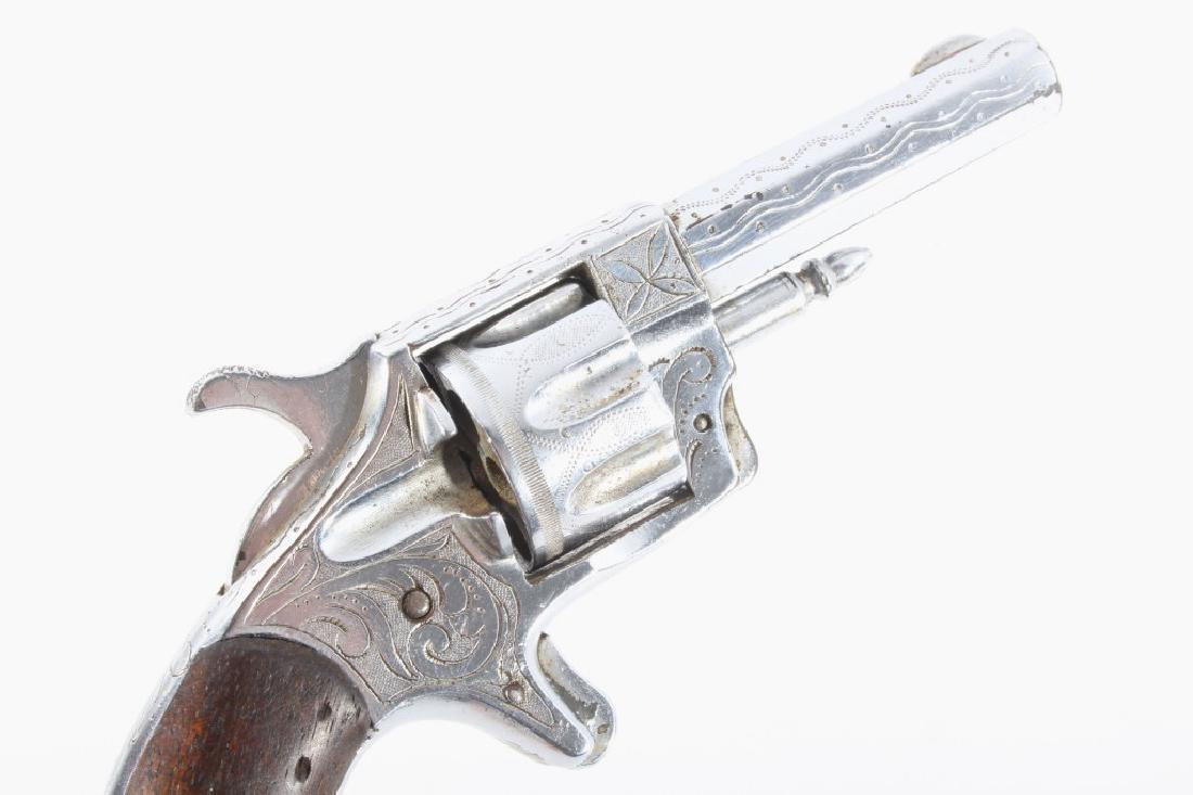 Gambler T&R Rob Roy Engraved Nickel Revolver & Box - 6