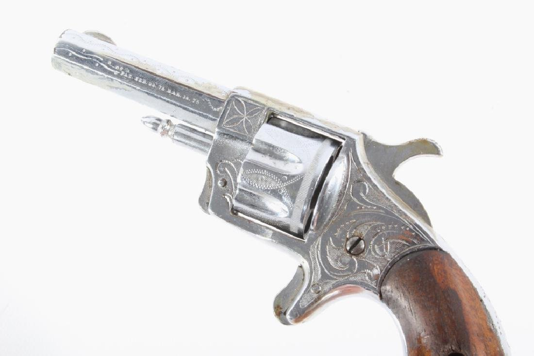 Gambler T&R Rob Roy Engraved Nickel Revolver & Box - 7
