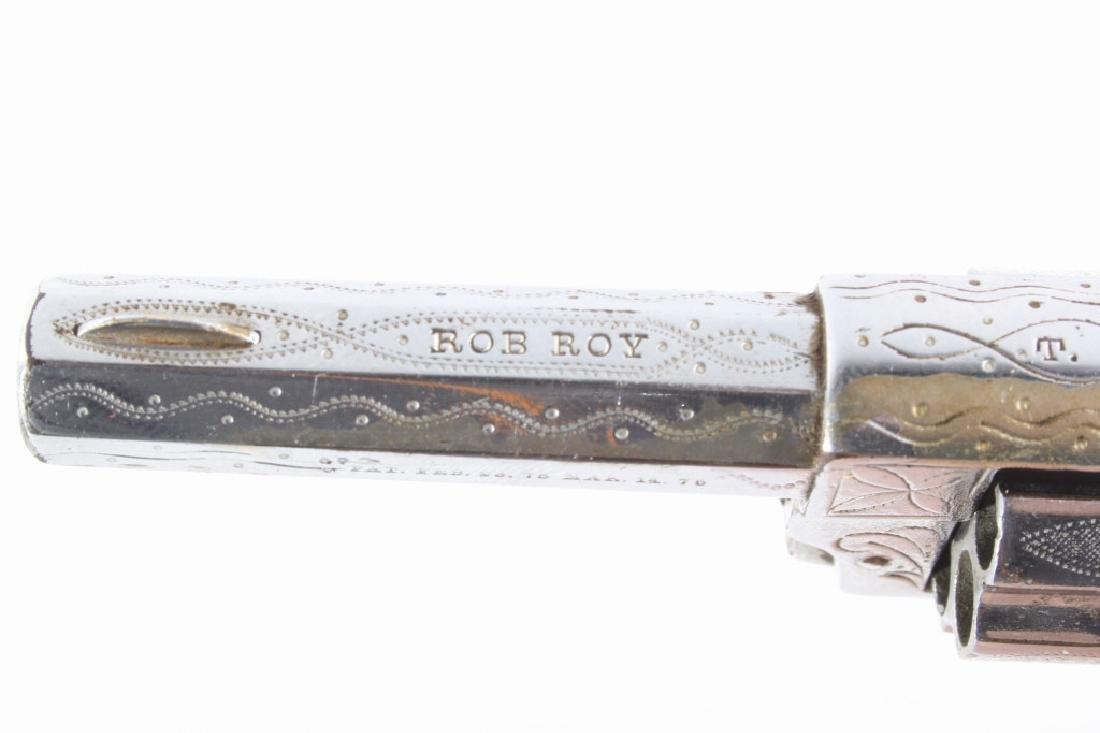 Gambler T&R Rob Roy Engraved Nickel Revolver & Box - 8