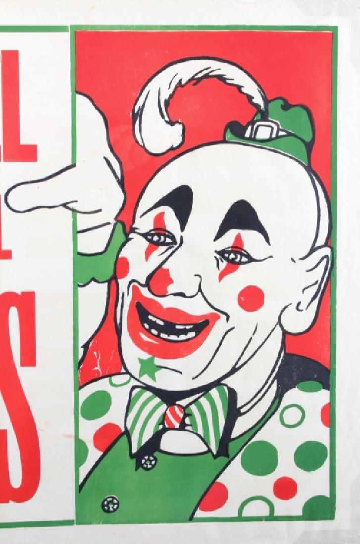 Original John Hall Wild Animal Circus Poster - 2