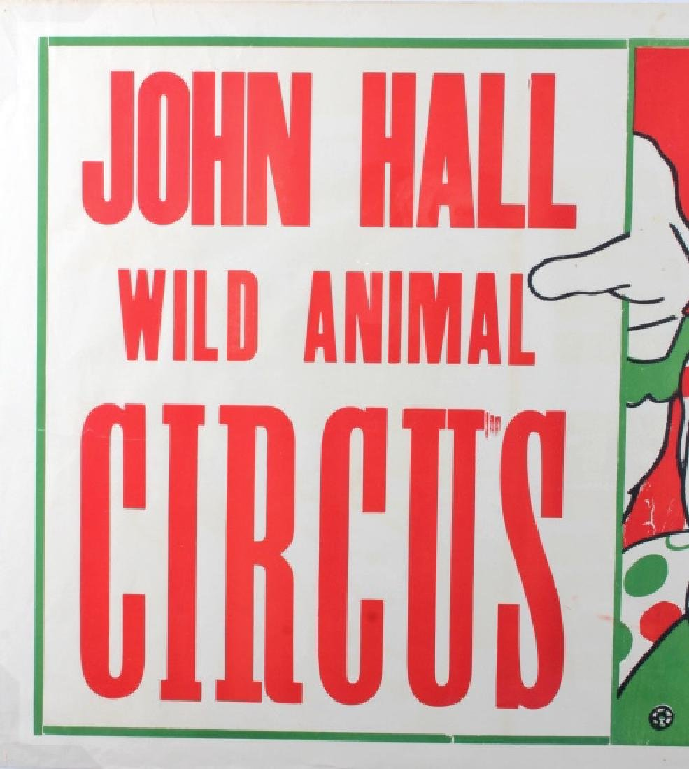 Original John Hall Wild Animal Circus Poster - 3