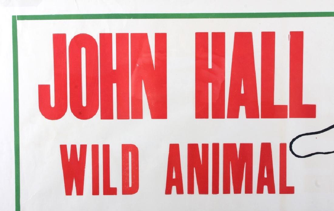 Original John Hall Wild Animal Circus Poster - 4