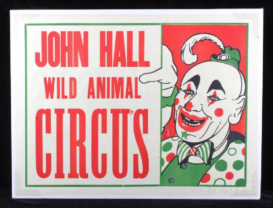 Original John Hall Wild Animal Circus Poster - 9