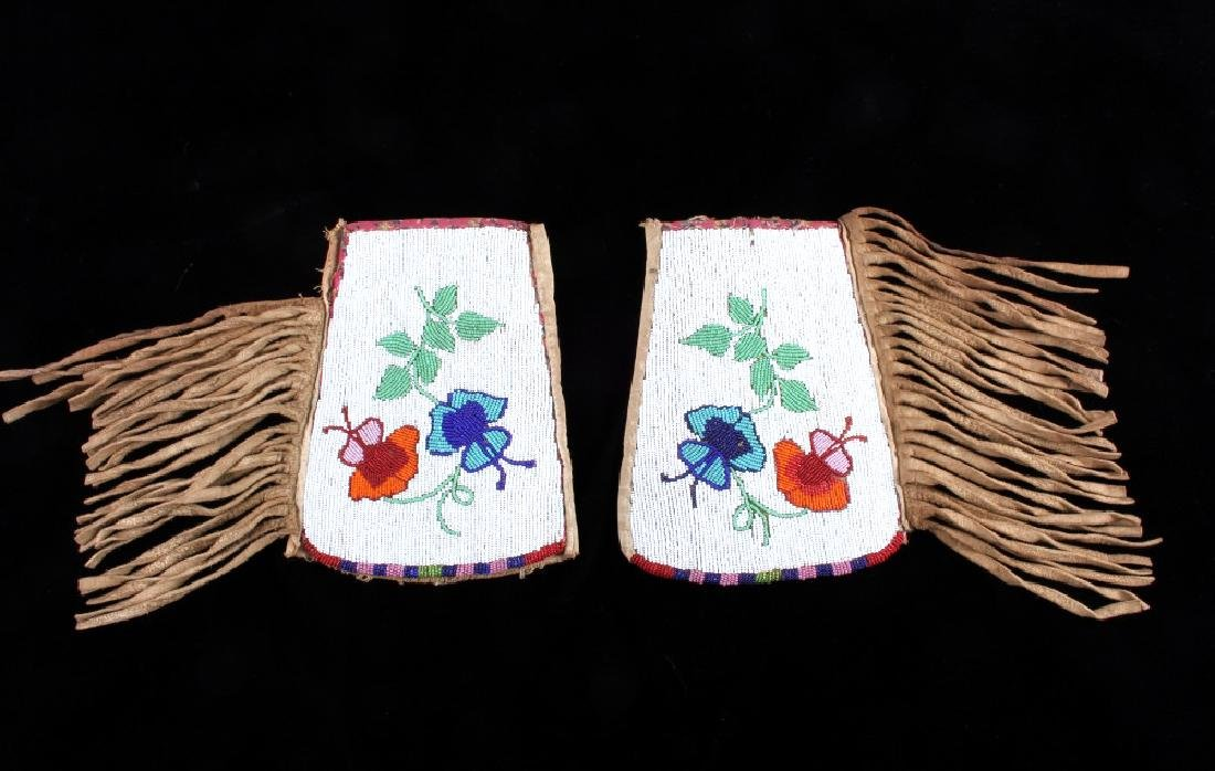 Blackfoot Fully Beaded & Fringed Cuff circa 1900-