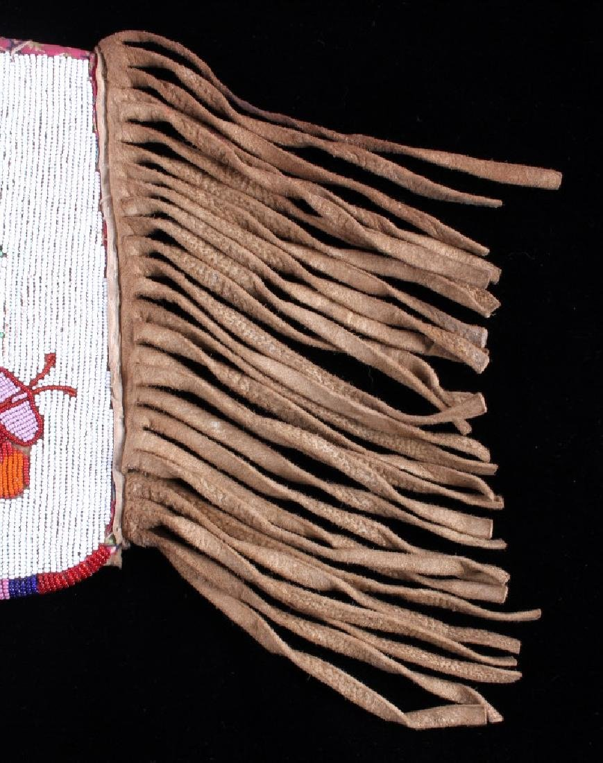 Blackfoot Fully Beaded & Fringed Cuff circa 1900- - 6
