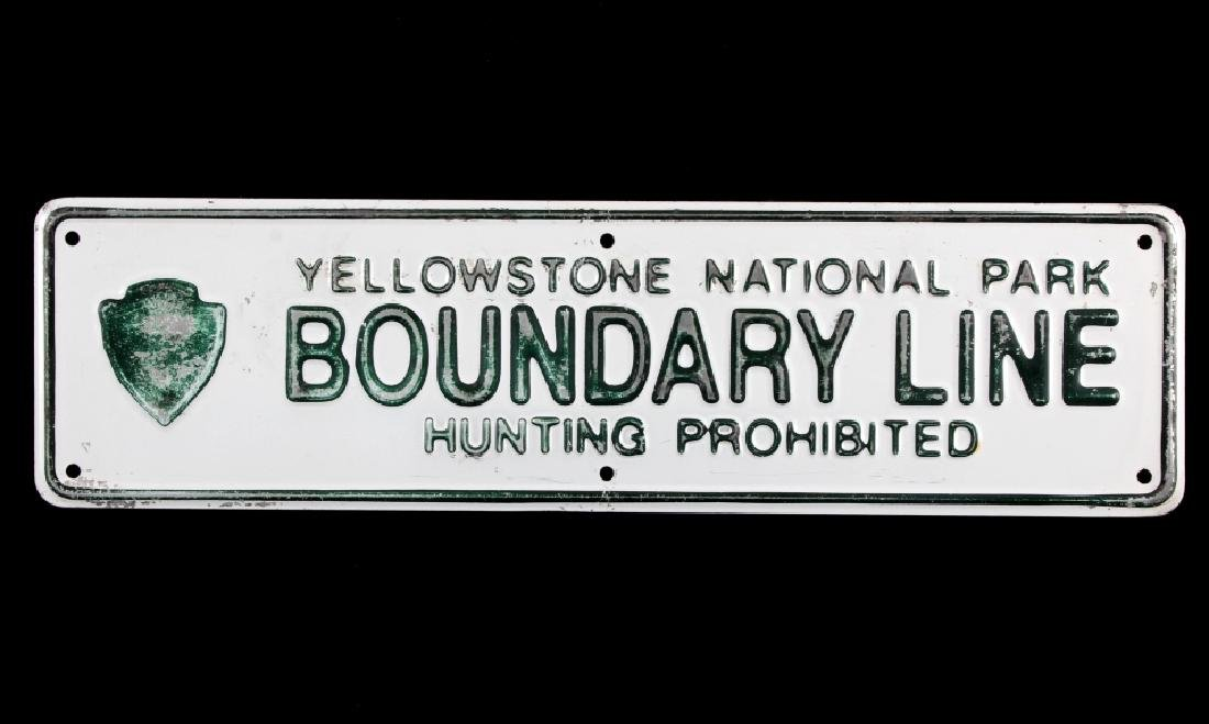 Yellowstone National Park Boundary Line Sign